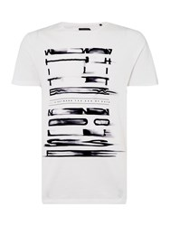 Label Lab White Noise Graphic T Shirt Off White