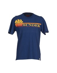 Sundek Topwear T Shirts Men Blue