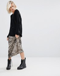 Religion Darkness Maxi Skirt Black Grey
