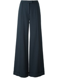 Nina Ricci Wide Leg Trousers Blue
