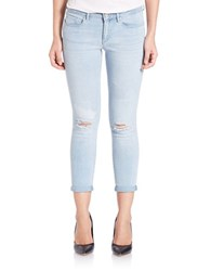 Jessica Simpson Forever Skinny Distressed Cropped Jeans Abbey