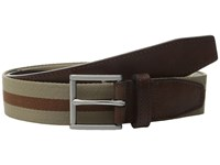 Cole Haan 35Mm Webbing Belt With Leather Tabs And Loop Dune Woodbury Men's Belts Olive