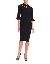 Gabby Skye Solid Fitted Dress Black