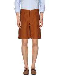 Oliver Spencer Trousers Bermuda Shorts Men Brown