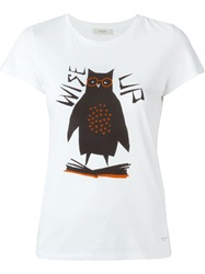 Paul By Paul Smith Owl Print T Shirt White