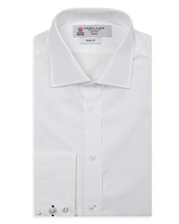 Turnbull And Asser Slim Fit Poplin Dress Shirt White