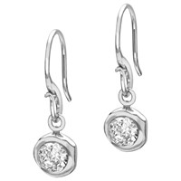 Dower And Hall Sterling Silver White Topaz Dewdrop Earrings Silver