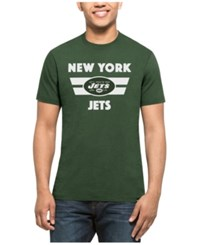 47 Brand '47 Men's New York Jets Two Bar Splitter T Shirt Green