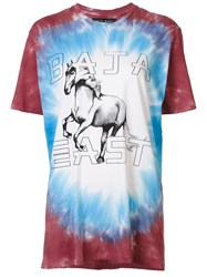Baja East Horse Print T Shirt Red