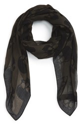 Men's The Kooples 'Skullhead' Print Scarf