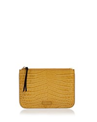 Elizabeth And James Color Block Embossed Leather Pouch Saffron Yellow White
