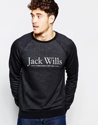 Jack Wills Sweat With Logo Print In Black