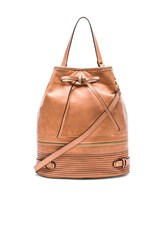 She Lo Silver Lining Drawstring Bag Tan