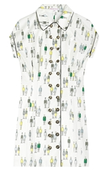 Olympia Le Tan Hill House Printed Cotton Dress