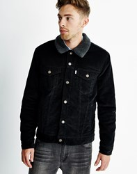 Levi's Type 3 Sherpa Trucker Jacket Black Sherpa Trucker