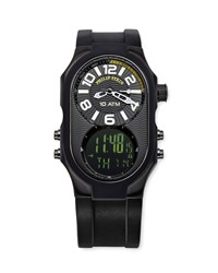 Philip Stein Teslar Men's Analog Digital Watch Black Philip Stein Silver