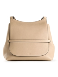 The Row Saddle Satchel Nude And Neutrals