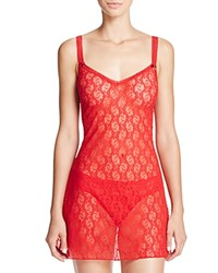 B.Tempt'd By Wacoal Lace Kiss Chemise Tango Red