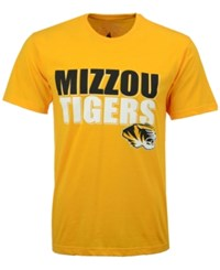 Colosseum Men's Missouri Tigers Wordmark Stack T Shirt Gold