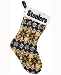 Forever Collectibles Pittsburgh Steelers Ugly Sweater Knit Team Stocking Black