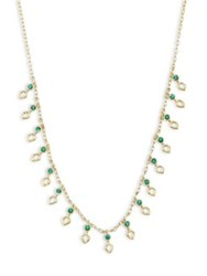Ila Ameli Emerald And 14K Yellow Gold Necklace Gold Emerald