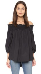Caroline Constas Lou Off Shoulder Blouse Black