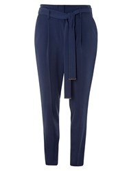 Dorothy Perkins Tie Waist Tapered Trousers Blue
