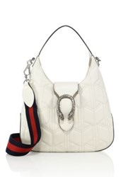 Gucci Dionysus Small Quilted Leather Hobo Bag Mystic White Black