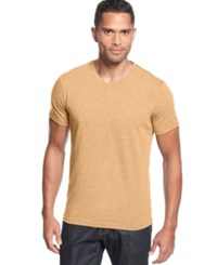 Alfani Slim Fitted V Neck T Shirt Melon Ice Heather