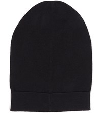 The Kooples Cashmere Wool Blend Beanie Hat Black