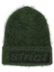Alexander Wang Strict Embroidered Beanie Green