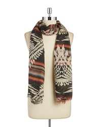 Steve Madden Arrows And Stripes Scarf Multi Colored