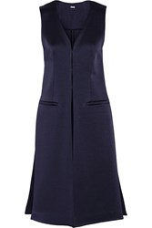 Adam By Adam Lippes Bonded Satin Gilet Blue
