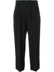 Brunello Cucinelli Front Pleat Trousers Black