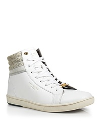 Ted Baker Kilma 2 Leather High Top Sneakers White