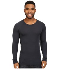 Icebreaker Everyday Long Sleeve Crewe Stealth Men's Clothing Gray