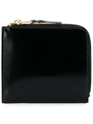 Comme Des Garcons Wallet Zip Around Pouch Black