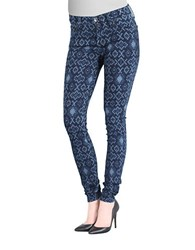Big Star Tribal Skinny Pants Blue