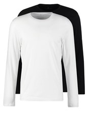 Tom Tailor 2Pack Long Sleeved Top White Black