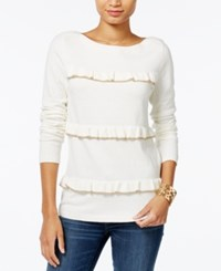 Tommy Hilfiger Raquel Ruffled Sweater Only At Macy's Snow White