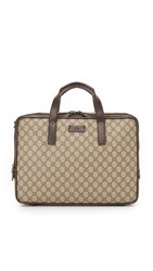 Wgaca Gucci Briefcase Previously Owned Tan
