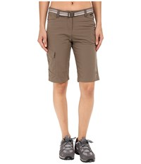 Jack Wolfskin Canvas Cargo Shorts Siltstone Women's Shorts Brown