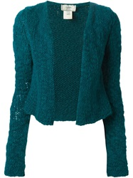 Fendi Vintage Chunky Knit Cardigan Green