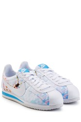 Nike Classic Cortez Cherry Blossom Leather Sneakers Multicolor