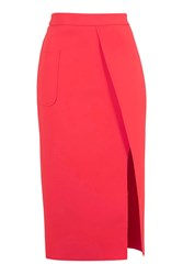 Topshop Pocket Wrap Skirt Coral