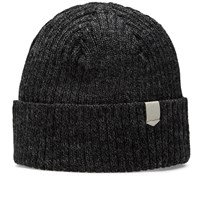 Maple Wool Knit Beanie Grey