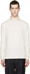 Paul Smith Cream Silk Turtleneck