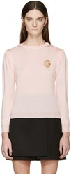 Simone Rocha Pink Beaded Appliqua Sweater