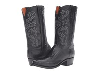 Lucchese Nick Black Ostrich Men's Boots