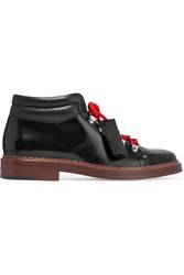 Tod's Glossed Leather Ankle Boots Black